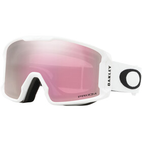 Oakley Line Miner XM Gafas de Nieve Mujer, matte white/w prizm snow hi pink iridium